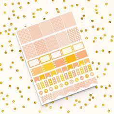 Peach Stickers -  http://etsy.me/2cGO8AW Perfect for create handmade planners, stationery, greeting cards, craft items and much more.