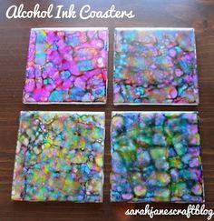 Sarah Jane's Craft Blog: Alcohol Ink Coasters