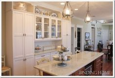 cabinet and trim color / wall color...Finding Home-Laura's kitchen 3