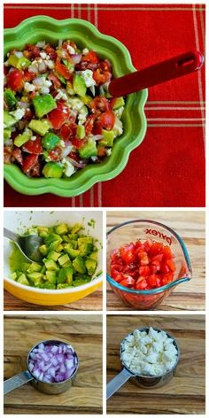 This recipe for Lisa's Cross-Cultural Salsa with Tomato, Avocado, Lime, and Feta was sent to me by a reader and it's fantastic over grilled chicken or fish, or as a topping for tacos, burritos, or taco salad. [from Kalyn's Kitchen] #SBDPh1 #LowCarb #GlutenFree #SummerFood