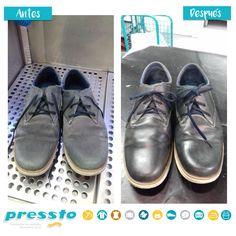 ¿Quieres que tu calzado brille como el primer día?  ¡Ven a Pressto!  #MejorConPressto Doc Martens Oxfords, Oxford Shoes, Fashion, First Day, Footwear, Zapatos, Moda, La Mode, Fasion