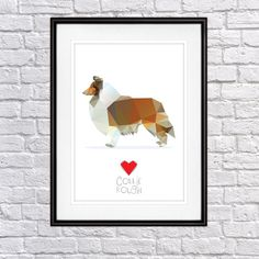Collie Rough, Digital Poster Print, Wall Decor by PSIAKREW on Etsy