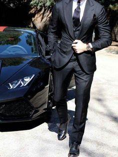 Mens Black Suit Groom Tuxedos Dinner Suit 2 Pieces Formal Wedding Suit Custom is part of Black suit men - Mens Fashion Blog, Mens Fashion Suits, Mens Suits, Wedding Suits, Formal Wedding, Tuxedo Wedding, Black Suit Wedding, Wedding Tuxedos, Wedding Poses
