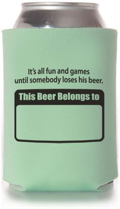 Never lose your beer again! Perfect favor from a summer grilling party