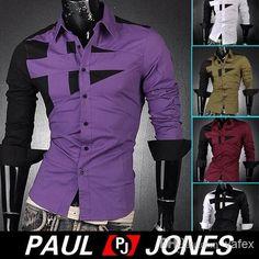 PJ Men's Fashion Designer Stylish Slim Fit Dress Shirts – teeteecee - fashion in style