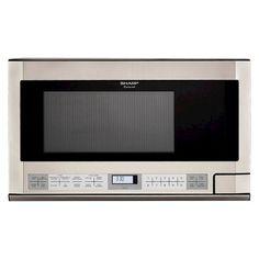 Sharp 1.5 Cu. Ft. 1100 Watt Microwave Oven - Stainless Steel R1214T