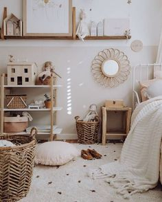 Kids room decorations with neutral color scheme Children's Room; Home Decoration; Home Design Girl Room, Girls Bedroom, Girl Nursery, Kids Bedroom Furniture, Bedroom Ideas, Baby Furniture, Furniture Stores, Wooden Furniture, Nursery Ideas