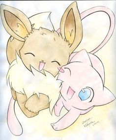my two favorite pokemon. Such a cute drawing