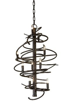 Cyclone Chandelier shown in Cajun Spice by 2nd Avenue Lighting - 01-1075-18