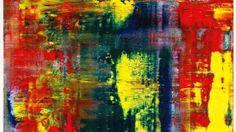"""Jetzt teuerstes Werk eines lebenden Künstlers: Gerhard Richters zwei Meter hohes """"Abstraktes Bild 809-4"""" von 1994 für 19 Millionen Pfund (Taxe 9/12 Millionen)"""