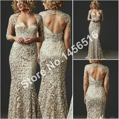 2016 Mother Of The Bride Dresses Mermaid Sweetheart 3/4 Sleeves Lace Long Brides Mother Dresses For Weddings Plus Size