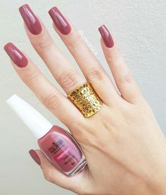 The wedding manicure - the beauty of the bride is in the smallest details - My Nails Pedicure Colors, Pedicure Designs, Nail Colors, Pedicure Tips, Clean Nails, Fun Nails, Pretty Nails, Mauve Nails, Wedding Manicure