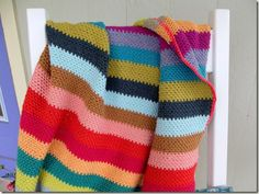 Free Pattern download for crochet striped blanket