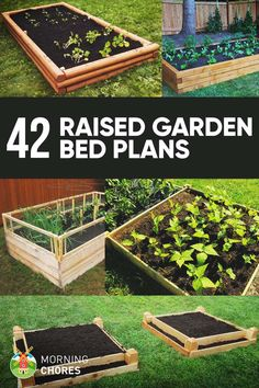 Urban Garden 42 DIY Raised Garden Bed Plans and Ideas - Want to learn how to build a raised bed in your garden? Here's a list of the best free DIY raised garden bed plans Raised Garden Bed Plans, Raised Bed Garden Design, Building A Raised Garden, Raised Beds, Cheap Raised Garden Beds, Diy Garden Bed, Garden Bed Layout, Garden Box Plans, Raised Herb Garden
