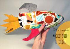 Hideous! Dreadful! Stinky!: Fabric Scrap Rocket Ship Tutorial