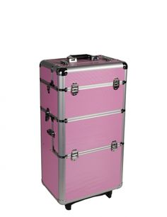 Our nail studio aluminum trolley offers you sufficient place for all your nail design utensils. You are no longer tied down, and can perform nail modeling anywhere you like! #nded #storage #case #trolley  www.nded.com