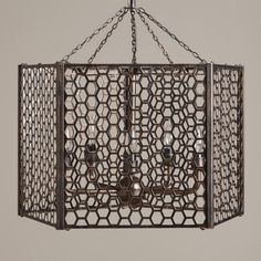 Honeycomb Chandelier at World Market - entryway