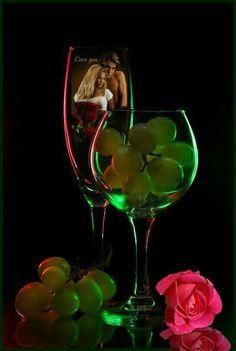 High Art, Screen Wallpaper, White Wine, Still Life, Unity, Pink And Green, Liquor, Photo Art, Whiskey