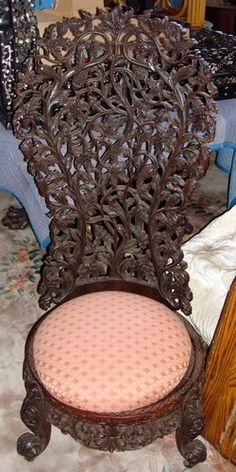 Antique Anglo-Indian Rosewood Chair 19th C.
