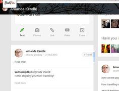 Google+ profile - http://plus.google.com/+AmandaKendle