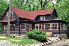 Mountain Home Exterior Paint Colors Cabin Exterior Paint Colors John And House Exterior Paint Color Rustic Cottage Exterior Paint Colors Mountain House Exterior Paint Colors Cabin Exterior Colors, Cabin Paint Colors, Log Homes Exterior, Cottage Exterior, House Paint Exterior, Exterior Paint Colors, Rustic Exterior, Grey Exterior, Red Roof House