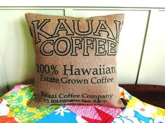 We have a wall hanging to match.  We bought the coffee bag in Kauai and framed it.