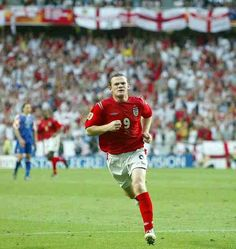 Wayne Rooney of England in action at Euro 2004.