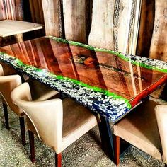 40 Amazing Resin Wood Table Ideas For Your Home Furnitures In the event that you wish to have an exceptional wood table, resin wood table might be the decision for you. Resin wood table furniture is the correct kind of [Continue Read] Wood Resin Table, Resin Patio Furniture, Epoxy Resin Table, Slab Table, Unique Furniture, Table Furniture, Home Furniture, Furniture Ideas, Wood Tables