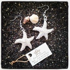 Sparkle Star fish ear rings - Σκουλαρικια αστεριες με strass