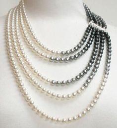 Craft ideas 11393 - Pandahall.com #bibnecklace #pearlnecklace #pandahall
