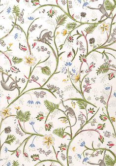 Guadeloupe #wallpaper in #white from the Jubilee collection. #Thibaut