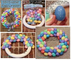 Osterdeko - Best Picture For Easter Decorations dollar store For Your Taste You are looki Holiday Fun, Holiday Crafts, Holiday Wreaths, Spring Crafts, Easter Projects, Easter Crafts For Kids, Easter Ideas, Diy Osterschmuck, Diy Easter Decorations