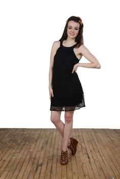 Flaunt this little black dress everywhere from the cabaret, to the symphony, to a gallery opening. This frock brings a fashionable thrill to any event!