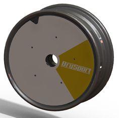 "17"" wheel with aero disc"