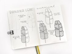 """2,036 Synes godt om, 27 kommentarer – Illustrator • Jennifer Reyes (@inkbyjeng) på Instagram: """"Here's another drawing tutorial. . This is how I draw the banana leaves that are part of my…"""""""