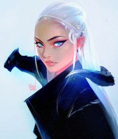 Dae and Drago by rossdraws, Daenerys Targaryen fan Art from Game of Thrones, Digital Painting, Inspirational Art