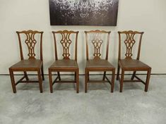 Chippendale Quartered Oak Dining Chairs Antique Dining Chairs, Antiques, Design, Antiquities, Antique, Vintage Dining Chairs, Old Stuff