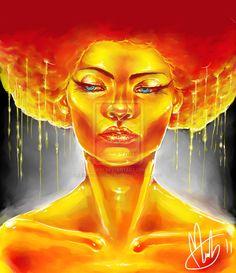 Golden afro  by foervraengd