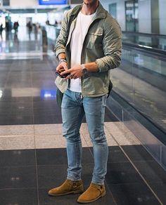 Best Ideas For Modern Mens Fashion Classy Outfits Casual, Stylish Mens Outfits, Mode Outfits, Men Casual, Fashion Outfits, Urban Outfits, Fashion Ideas, Mens Casual Jackets, Denim Jackets