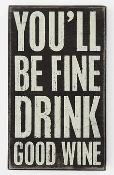 Primitives by Kathy 'You'll Be Fine' Box Sign available at #Nordstrom