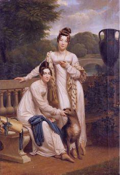 The Misses de Balleroy, 1805-15 by Henri-François Riesener