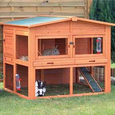 "Trixie Natura Xl Two Story Rabbit Hutch With Outdoor Run, 53"" L X 45"" W X 44"" H"