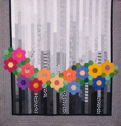 just Quilts: Delden Quilt Exhibition--WOW--hexagon wreath English Paper Piecing, Quilting Projects, Quilting Designs, Flower Quilts, Jellyroll Quilts, Strip Quilts, Hexagon Quilt, Applique Quilts, Baby Quilts