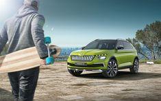 Download wallpapers Skoda Vision X, 2018, 4k, hybrid crossover, exterior, new cars, green crossover, Skoda