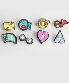 I found 'Set of Third Generation Pokemon Gym Badges' on Wish, check it out!