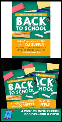 Back to School Flyer Template PSD. Download here: https://graphicriver.net/item/back-to-school-flyer-template/17553463?ref=ksioks