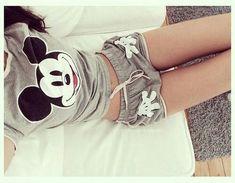 Mickey Mouse Print Short Sleeve Two-Piece Suit Cute Pjs, Cute Pajamas, Pyjama Disney, Mode Lolita, Pijamas Women, Cool Outfits, Summer Outfits, Jolie Lingerie, Disney Outfits