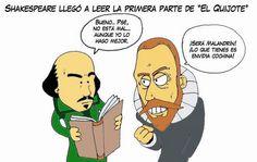 Shakespeare y Cervantes: un encuentro imaginado que pudo ser: http://www.nuevatribuna.es/articulo/cultura---ocio/shakespeare-y-cervantes-encuentro-imaginado-pudo-ser/20160221162628125636.html