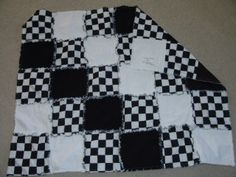 Checkered flag / racing rag quilt