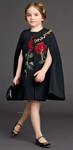 ALALOSHA: VOGUE ENFANTS: Night roses: Dolce&Gabbana's IT dress for little girls